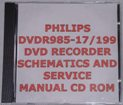 Philips DVDR985 Dvd Recorder Schematics / Service Manual