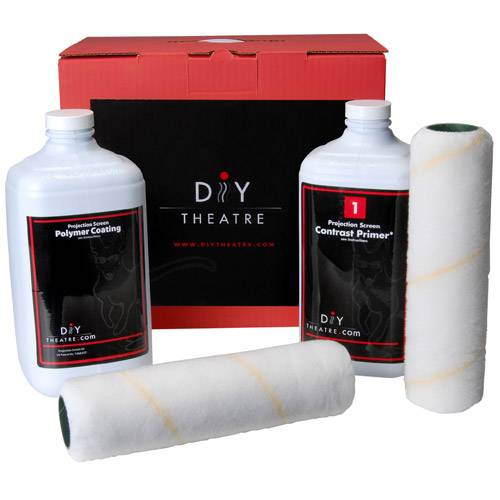 DIY Projector Screen Paint Kit White Platinum Contrast Enhanced
