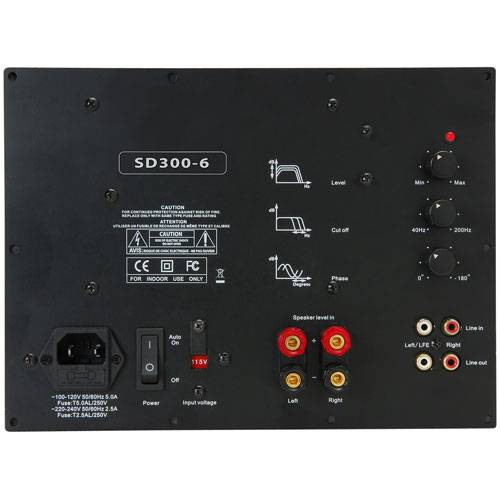Yung SD300-6 300W Class D Subwoofer Amp Module with 6 dB at 30 Hz