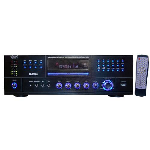 Pyle PD1000A 1000 Watt AM-FM Receiver w/Built-in DVD/MP3/USB