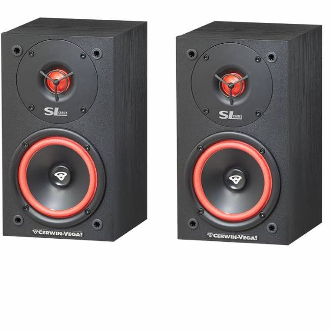 "Cerwin-Vega SL-5M 5.25"" 2-Way Bookshelf Speaker, 125 Watts - Pair"