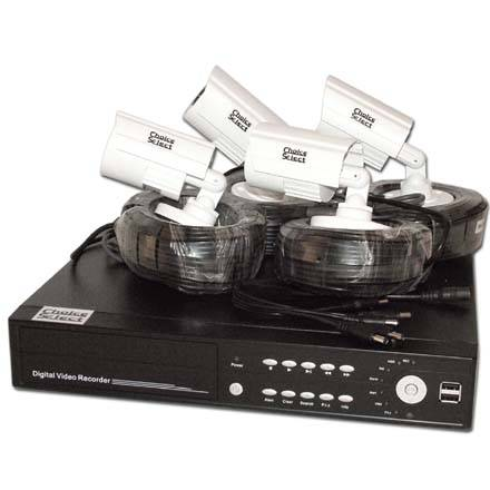 Choice Select 4 Channel DVR Kit with (4) 420tvl Security Cameras