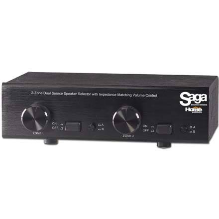 Saga Home Edition Two Zone Dual Source Speaker Selector