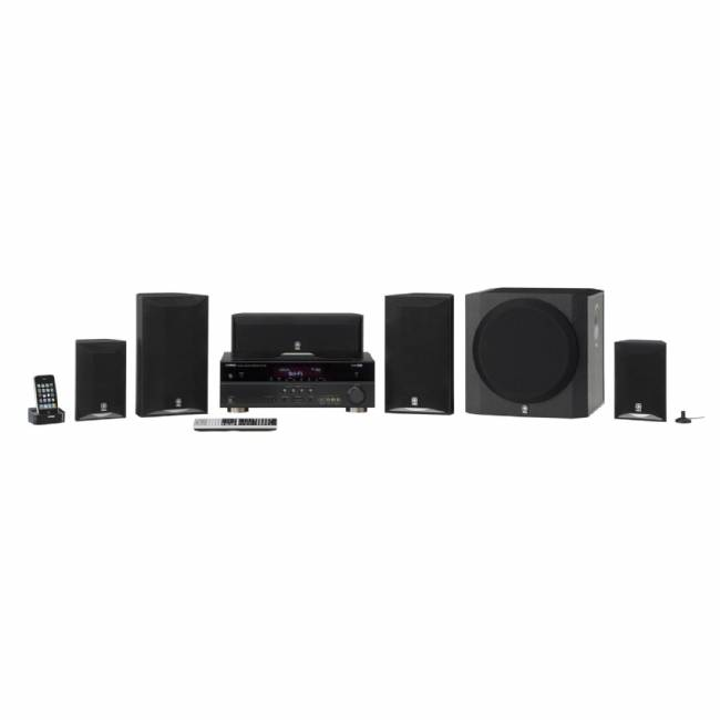 Yamaha YHT-693BL 5.1 Channel 525 Watt HTiB System (Each, Black)