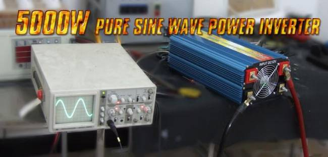Power Jack 5000/10000 watt pure sine wave power inverter 12VDC/240 VAC